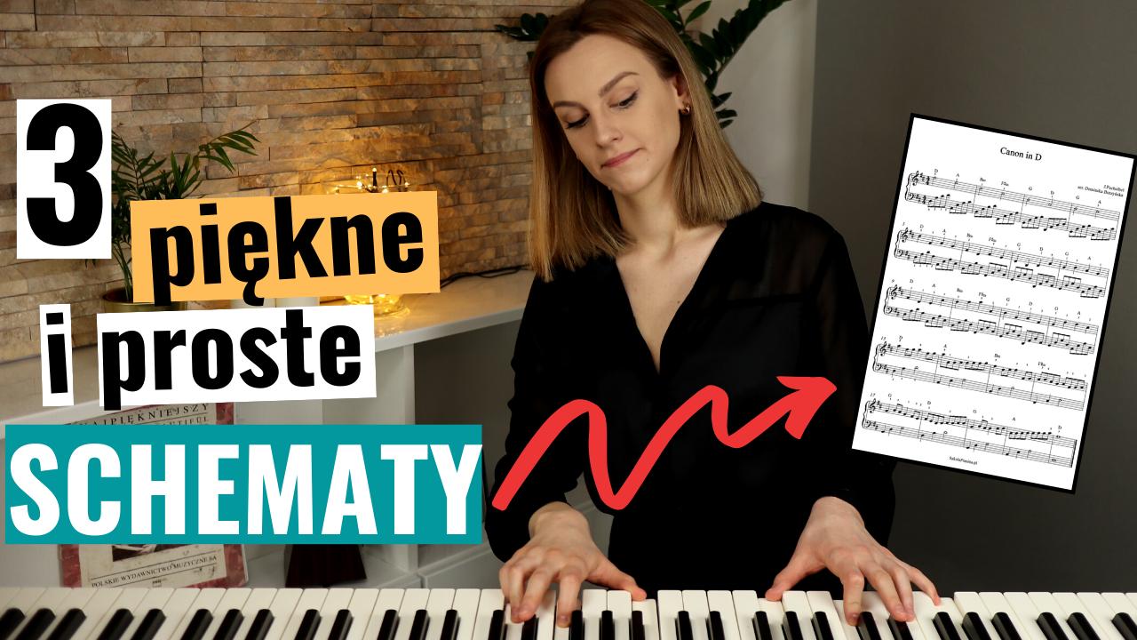 """Jak Akompaniować Na Pianinie do linii melodycznej na przykładzie """"Canon in D"""" – akompaniament + nuty"""