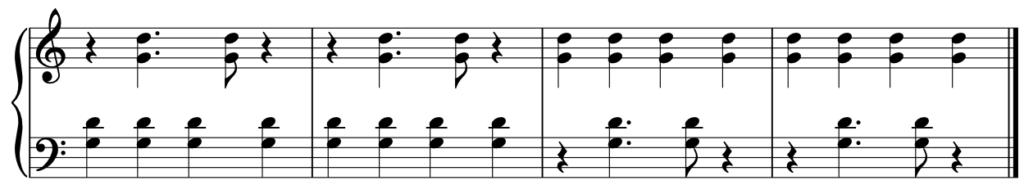 jak grać na pianinie na dwie ręce