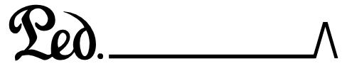 symbol peadłu w nutach