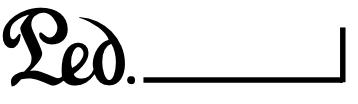symbol pedału w nutach
