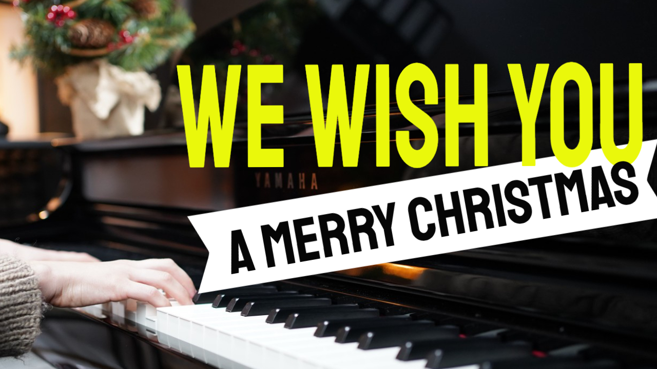 """We Wish You a Merry Christmas"" na pianinie"